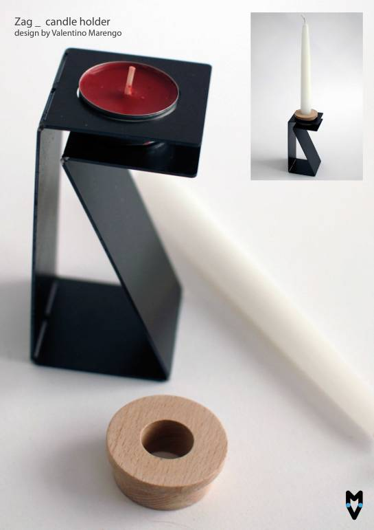 Zag candle holder.